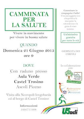 camminata per la salute a Castel Trosino