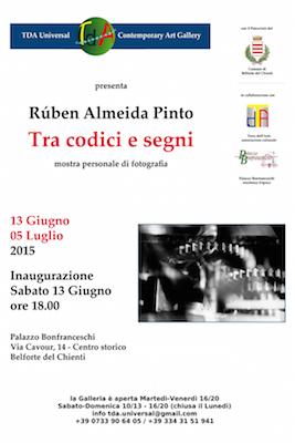 mostra personale Ruben Almeida Pinto