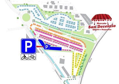 Pesaro, parcheggio moto mercato