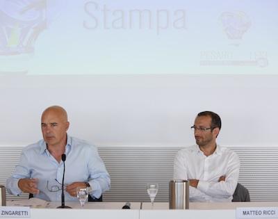 Luca Zingaretti e Matteo Ricci_Pesaro DocFest 2015