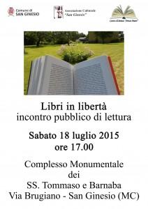 Libri in libertà 18 luglio 2015