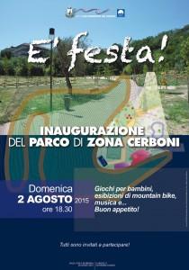 Inaugurazione parco zona Cerboni