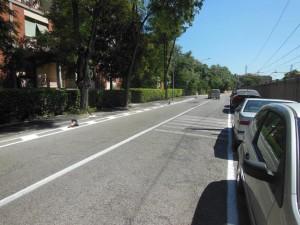 Pesaro percorso pedonale via La Marca