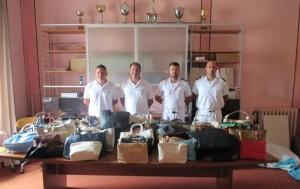Polizia Municipale in spiaggia a San Benedetto del Tronto, sequestrate 73 borse