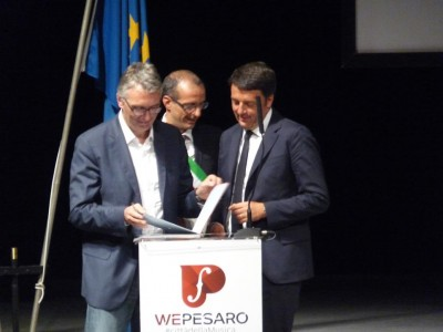 Matteo Renzi a Pesaro 25 agosto 2015