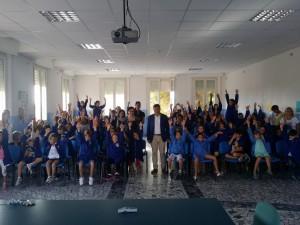 Sindaco di Fano in visita alla scuola