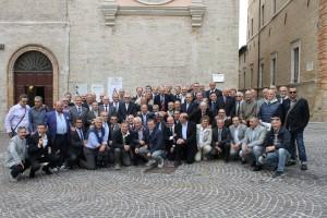 Macerata, ex allievi del 62° corso Saram accolti dal sindaco in piazza della Libertà