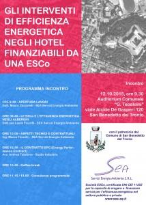 """A San Benedetto del Tronto """"Gli interventi di efficienza energetica negli hotel finanziabili da una ESCo"""""""