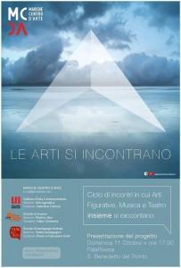 Le arti si incontrano: domenica 11 ottobre la presentazione del progetto promosso dal Marche Centro d'Arte di San Benedetto del Tronto