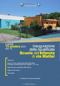 Inaugurazione scuola infanzia via Mattei - San Benedetto del Tronto