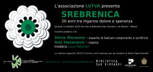 """A Pesaro """"Srebrenica, 20 anni tra inganno, dolore e speranza"""""""