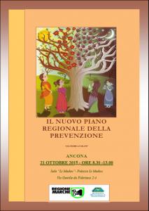 Piano regionale della prevenzione, mercoledì 21 ottobre la presentazione ad Ancona