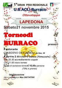 """Il 21 novembre a Lapedona l'ottava tappa del """"Gran Prix regionale di burraco"""""""