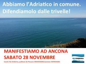 Manifestazione anti trivelle ad Ancona sabato 28 novembre