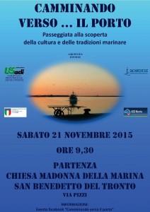 """""""Camminando verso… il porto"""" sabato 21 novembre a San Benedetto del Tronto"""