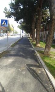 Pesaro pista ciclabile via Canale