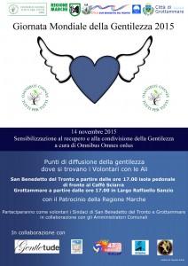 Volontari con le ali per la Giornata Mondiale della Gentilezza a San Benedetto e Grottammare