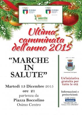 """Ultimo appuntamento del 2015 a Osimo con """"Marche in Salute"""""""