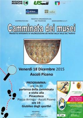 """""""Camminate dei musei"""": venerdì 18 dicembre visita alla Pinacoteca di Ascoli Piceno"""