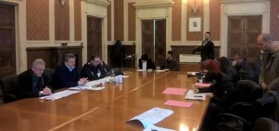 Conferenza stampa Ancona lavori in via Vecchini e via San Martino