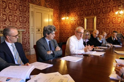 Conferenza stampa bilancio sociale 2014 dell'Azienda Pluriservizi Macerata