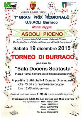 """Ad Ascoli Piceno la nona tappa del """"Gran Prix regionale di burraco"""" dell'U.S. Acli Marche"""