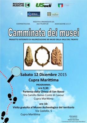 Camminata dei Musei Cupra Marittima 12 dicembre