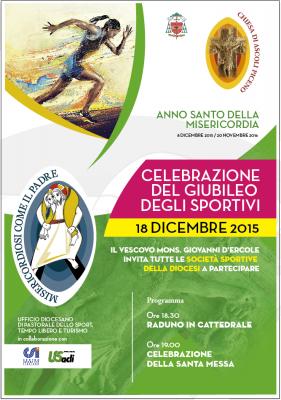 """Venerdì 18 dicembre il """"Giubileo degli sportivi"""" ad Ascoli Piceno"""