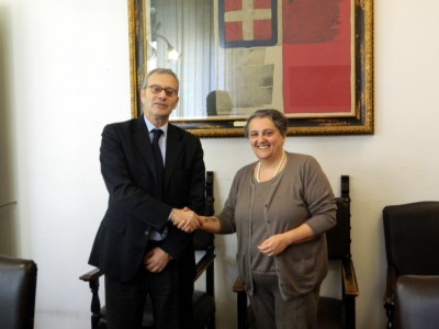 Ancona, il sindaco Mancinelli riceve il nuovo prefetto Antonio D'Acunto