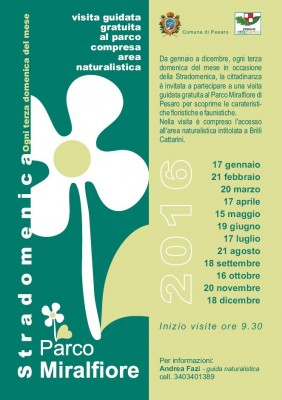 Pesaro visita guidata Parco Miralfiore