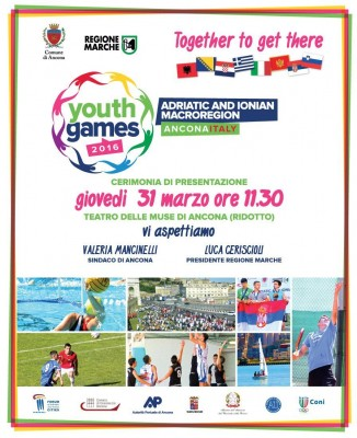 Ad Ancona gli Adriatic and Ionian Macroregion Youth Games