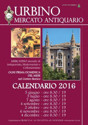 Urbino, dal 5 giugno torna l'Antiquariato nel centro storico