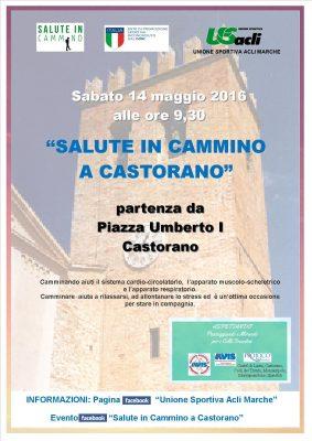 """""""Salute in cammino"""" fa tappa a Castorano il 14 maggio"""