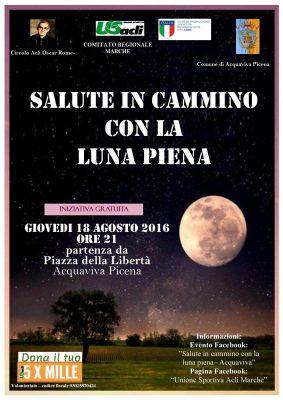 """""""Salute in cammino con la luna piena"""" fa tappa ad Acquaviva Picena"""