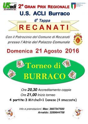 Burraco a Recanati