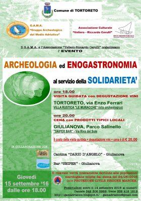 Archeologia ed enogastronomia per i terremotati delle Marche