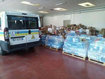 Misericordia Pescara aiuti Grottammare terremoto