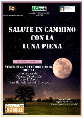 """""""Salute in cammino con la luna piena"""" venerdì 23 settembre a Porto d'Ascoli"""
