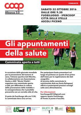 """Ascoli Piceno, una camminata per la """"Giornata mondiale della lotta al tumore al seno"""""""
