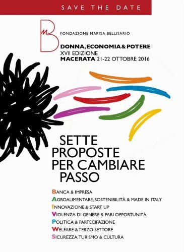 Macerata, XVII edizione Donna Economia e Potere della Fondazione Marisa Bellisario