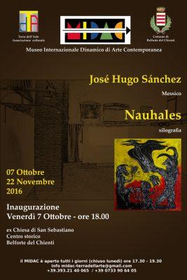 "A Belforte del Chienti la mostra personale ""Nahuales"" di José Hugo Sánchez (Messico)"