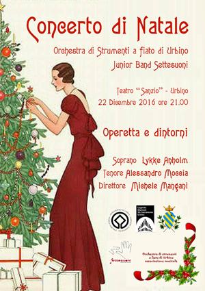 Urbino, il 22 dicembre al Teatro Sanzio il tradizionale concerto di Natale