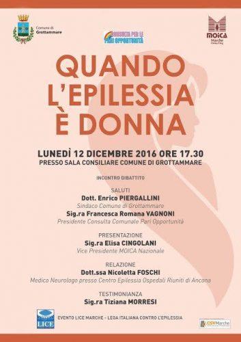 """""""Quando l'Epilessia è Donna"""", dibattito a Grottammare"""