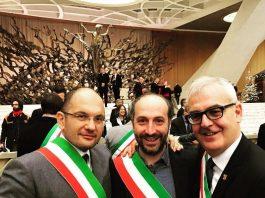 Guido Castelli, Paolo Calcinaro e Romano Carancini