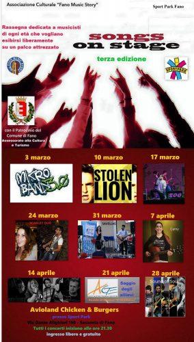 Songs on Stage, terza edizione allo Sport Park di Fano