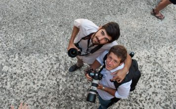 I due studenti dell'Accademia di Belle Arti di Macerata, autori del video