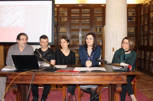 Da sinistra Massimo Costantini, Paolo Trillini, Maria Giovanna Varagona, Stefania Monteverde e Fabiola Scagnetti