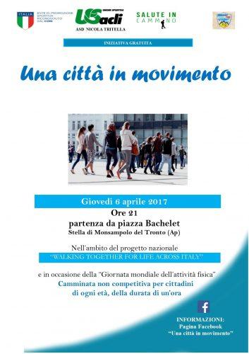 Giornata mondiale dell'attività fisica, aStella di Monsampolo una camminata dell'U.S. Acli per festeggiarla