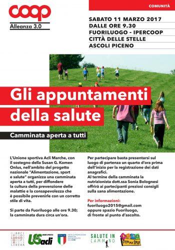 """Entra nel vivo """"Alimentazione, sport e salute"""",un progetto nazionaledell'Unione Sportiva Acli Marche"""