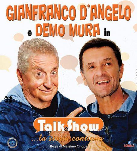 Gianfranco D'Angelo e Demo Mura al Teatro Battelli di Macerata Feltria